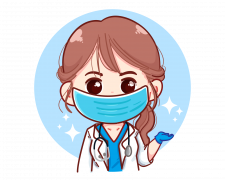 Beautiful_young_female_doctor_presenting_something_cartoon_illustration-[Converted]