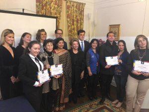 Noviembre 2018 | Ganadores Premios Solidaridad Internacional 2018 otorgado por ACDAC (Asociación de Cónyuges Diplomáticos Acreditados en Colombia).